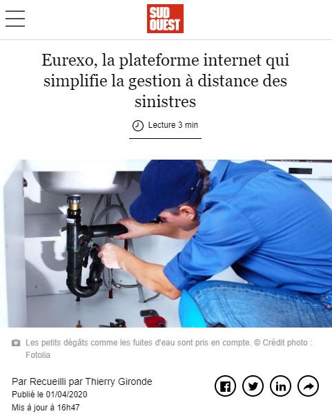 Eurexo, la plateforme internet qui simplifie la gestion à distance des sinistres