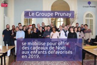 Le Groupe Prunay se mobilise pour offrir des cadeaux de Noël aux enfants défavorisés en 2019