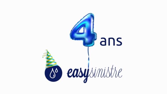Easysinistre fête ses 4 ans !