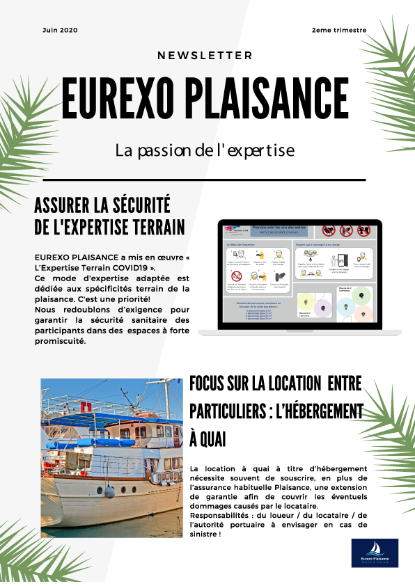 2ème newsletter d'Eurexo Plaisance