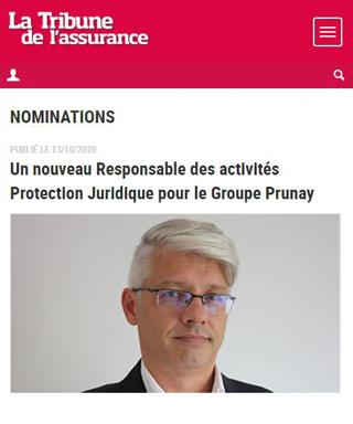 Nicolas Glaux, nouveau Responsable des activités Protection Juridique du Groupe Prunay
