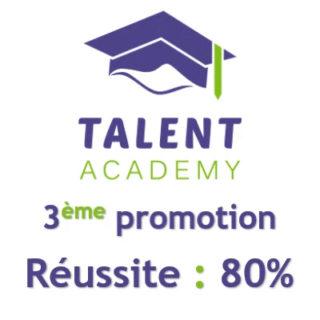 Troisième session de la Talent Academy : un taux de réussite de 80%