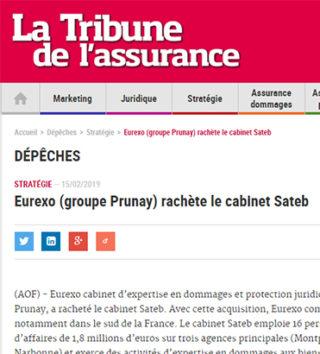 Eurexo rachète le cabinet Sateb