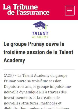 Le groupe Prunay ouvre la troisième session de la Talent Academy