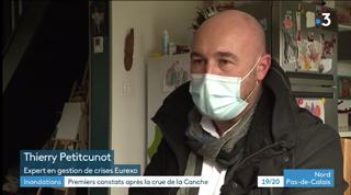 Journal de France 3 : Thierry Petitcunot expertise les sinistrés victimes des inondations